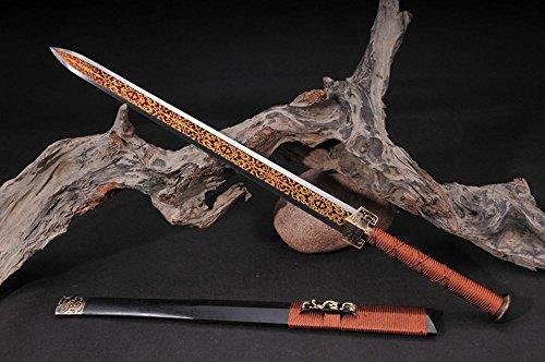 FARDEER Handgemachte chinesische Longquan Schwert Hohes Mangan-Oktaeder Han Schwert Nicht offene Kante HJ-02