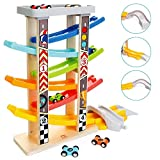 Milly & Ted Mega Wooden Race Track Car Ramp Racer & 6 Cars