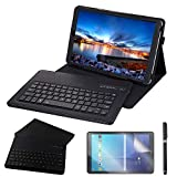 Galaxy Tab A 10.5 2018 Keyboard Case, REAL-EAGLE PU Leather