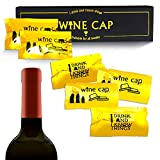 Airtight Wine Caps Wine Bottle Stopper Condom Style Bottle Topper Keep Fresh Wine Party Novelty Cork Replacements (8 Pcs/Set )