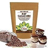 Nibs de cacao orgánico crudos - Ingrediente vegano de chocolate oscuro puro - Ideal para batidos energéticos y barritas de proteínas - 200g