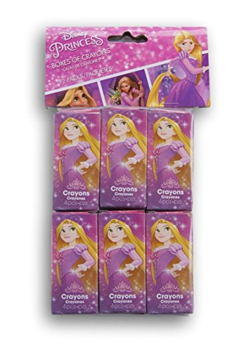 Designware Tangled Rapunzel Mini Favor Crayons - 12 Count