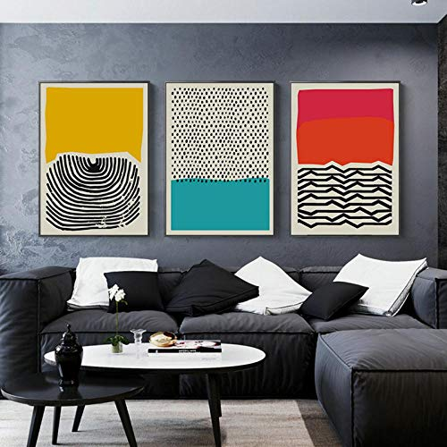 """/""""Touche/"""" Abstract Stretched Canvas Print Framed Wall Art Home Decor Painting AU"""