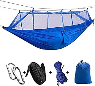 Camping Hammock with Mosquito/Bug Net,Easy Assembly,Portable Parachute Nylon Hammock for Camping,Backpacking,Survival,Trav...