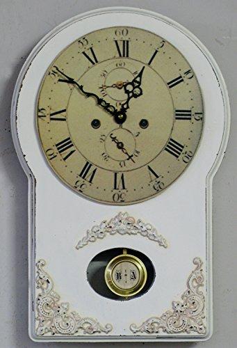 Horloge à pendule style shabby chic
