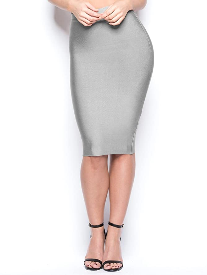 S Curve Women's Solid High Waist Bandage Bodycon Skirt