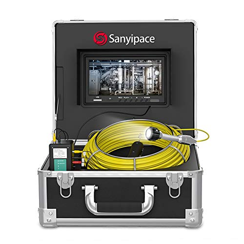 Sewer Camera 100ft,Drain Camera Pipeline Drain Industrial Endoscope IP68 Waterproof Snake Video System with 9 Inch LCD Monitor 1000TVL Sony CCD DVR Live Recorder HD Color Duct Camera