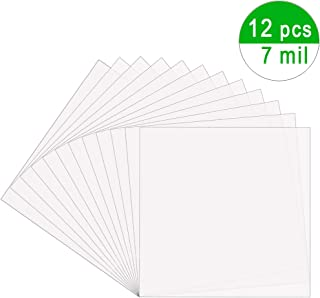 EGOSKY 12Pcs 7mil Blank Stencil Sheets, 12 x 12 inch Mylar Template Stencil Material for Cricut & Silhouette Machines