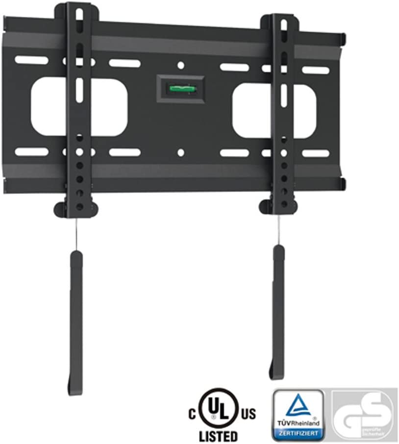 Ultra-Slim Black Fixed Flat Low-Profile Bracket for Mount S specialty shop Price reduction Wall