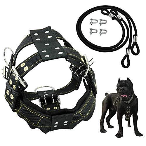 7°MR Hundehalsband, langlebig, Hundegeschirr und Hundegeschirr für mittelgroße Hunde, schwere Hunde, französische Bulldogge, Trainingsweste aus Nylon