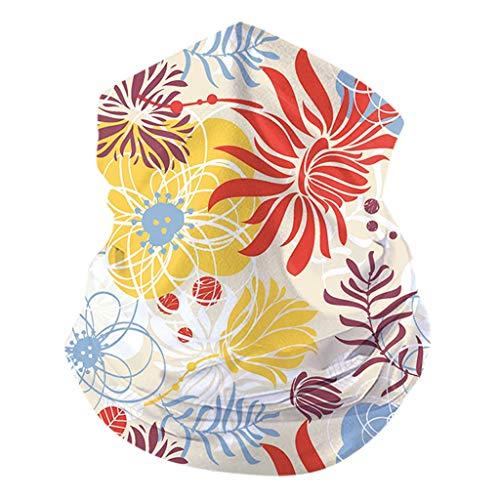 KPILP Mode Halstüch Kopftüch Bandanas Outdoor UV Staubschutz Winddicht Schlauchschal, Sport-Halstuch Schlauchtuch, Schal, Unisex