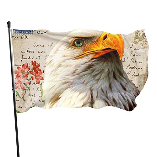 Vlag 3 X 5 voet Eagle puzzel stempel 100% Polyester Materiaal Vlag Ideaal voor Festival Business Piraat Party Tuin Binnenplaats