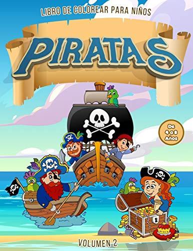 Piratas Libro de Colorear para Niños de 4 a 8 Años | Vol. 2