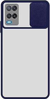 جراب سيليكون مع حامي الكاميرا المنزلق- أزرق شفاف - 2725618191718