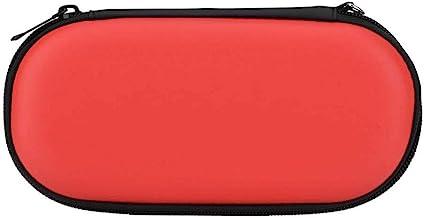 Bolsa à prova de choque, organizador portátil, estojo rígido, bolsa, para Sony PlayStation Vita para Sony PS Vita (vermelho)