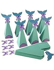 Cajas de Sirenas Cajas de Dulces Artículos de Fiesta Sirena DIY Manualidades Cajas Caja Caramelos de Sirenas para Fiesta de Cumpleaños, Graduación Bautismo, Baby Shower (Paquete de 20)