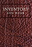 Inventory Log Book: Reddish Brown Leather Design 6x9 Simple Inventory Record Log...