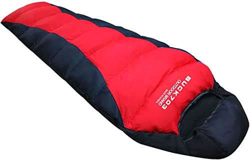 Buck703Duvet d'oie Sac de couchage XL pour le camping rouge
