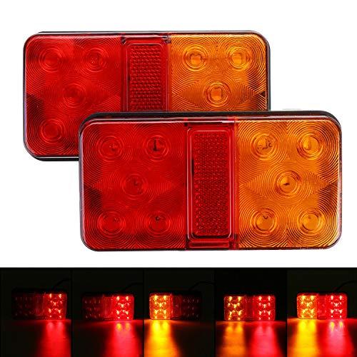 CICMOD 2Pcs Luci Posteriori LED Fanali Impermeabile Universale per Veicolo Rimorchio Caravan Camion Trattore Autocarro