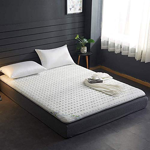 Buy Allyine Double Single Tatami Mattress, Solid Color Quilted Tatami Floor Mat Non-Slip Foldable Fu...