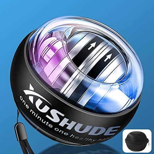 XUSHUDE Gyro Energy Training Ball Accesorios de fitness Entrenador manual LED, Bola giratoria (con bolsa de bolas)