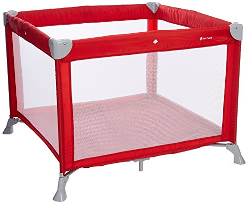 Mon Bebe - Box pieghevole per neonati con materasso e borsa per il trasporto, colore: Rosso