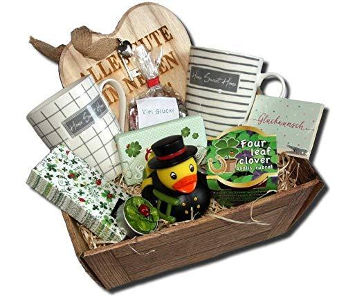 Umzug Home Präsentkorb | Einzug Geschenke Korb | Umzugsgeschenke | Neuea Heim Geschenk | Einweihungsparty Wohnung Haus | Richtfest Geschenkkorb
