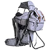 ClevrPlus Urban Explorer Hiking Baby Backpack Child Carrier, Gray