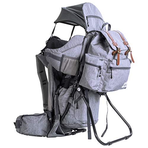 ClevrPlus Urban Explorer Child Carrier Hiking Baby Backpack, Heather Gray