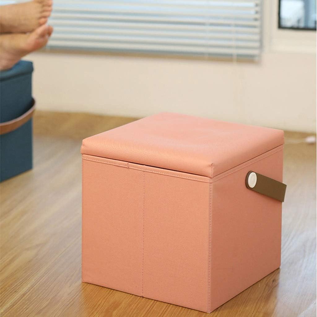 DGHJK Tabouret de Rangement Peut asseoir des Personnes Chaise Pliante canapé Changement de Chaussures Tabouret boîte de Finition Xuan - Vaut la Peine d'avoir, Vert Malachite Pink