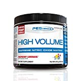 PEScience High Volume Nitric Oxide Booster Pre Workout Powder with L Arginine Nitrate, Raspberry Lemonade, 36 Scoops, Caffeine Free