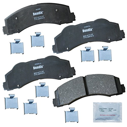 Bendix Premium Copper Free CFC1770 Ceramic Brake Pad (with Installation Hardware Front)