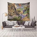 Obra de Arte Pinturas al óleo Tapiz Colgante de Pared Adorno clásico Dormitorio Dormitorio Cabecero Tapiz Decoración del hogar