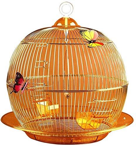 Jaula de pájaros de Parrot de vuelo grande para De Jaula de vuelo con estilo y exquisito loro redondo jaula decorada jaula de pájaros ornamental para pájaros interior y al aire libre, jaula de