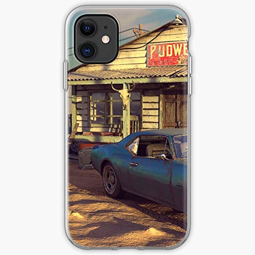 Village Camaro Retro Road Gas Vintage Country Station Phone Case for All iPhone, iPhone 11, iPhone 12, iPhone XR, iPhone 7 Plus/8 Plus, Huawei, Samsung Galaxy 1