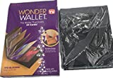 1PCS Hot sale NEW Wonder Wallet Amazing Slim RFID Wallets As Seen on TV Black Leather 12Cards