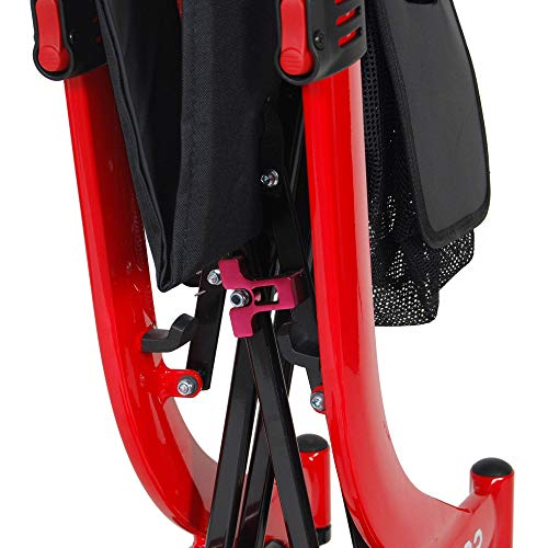 Drive Medical RTL0266-T Nitro Euro Style Rollator Walker, Tall Height, Red 1 Count