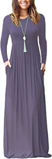 Best simple long sleeve maxi dress Reviews