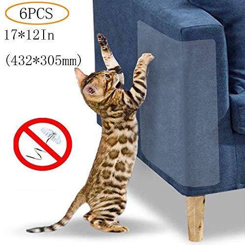 DERU Stück Katze Kratzschutz Sofa, Möbel Protector-Cat Scratch Couch Schutz mit Selbstklebende Pad, Claw Möbel Beschützer für Stühle, Sofas, Betten(6 PCS)