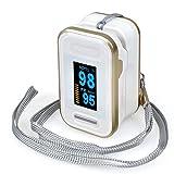 YB-DD Impulso con Trasporto Cordino, accurata Sp02 Pulsossimetro Wireless Digitale Dita...