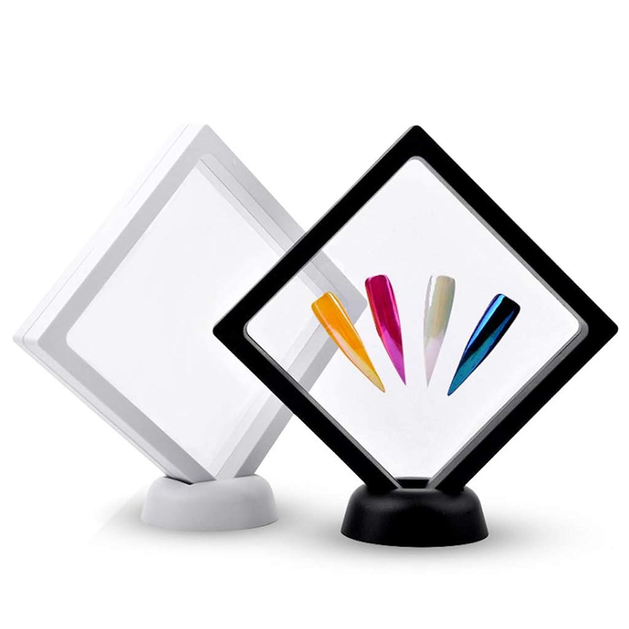 ホット上げる話すDYNWAVE 作品ネイルアートディスプレイパネル 透明 2本セット