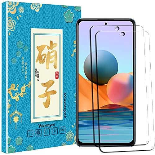 【 2枚セット 】For Xiaomi Redmi Note 10 Pro フィルム For Xiaomi Redmi Note 10 Pro ガラスフィルム 旭硝子 強化ガラス 液晶保護 耐衝撃 高透過率 9H硬度 気泡ゼロ