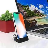 Bukeer Phone Charge Dock Station Compatible iPhone 11/X/8/8 Plus/7/7Plus/6/6 Plus/6s/6s Plus/5/SE, iPad Mini, iPod Touch (Black)