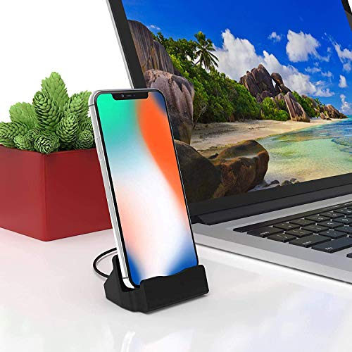 Bukeer Phone Charge Dock Station Compatible iPhone 11/X/8/8 Plus/7/7Plus/6/6 Plus/6s/6s Plus/5/SE, iPad Mini, iPod Touch (Black)