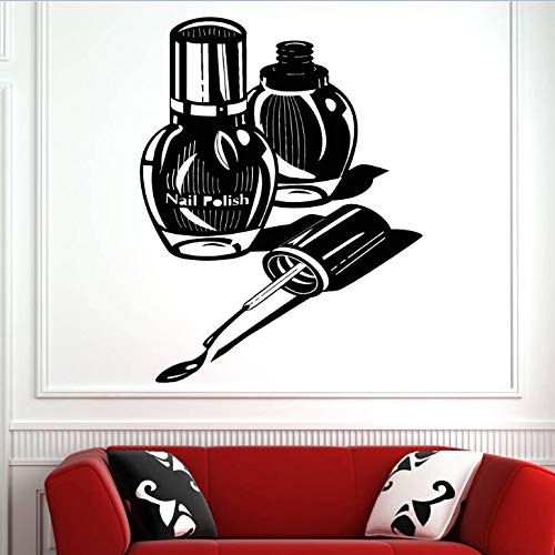 Tianpengyuanshuai Wandfenster Aufkleber Maniküre Dekoration Nagel Pediküre Wandaufkleber abnehmbare Nagel Shop Wandaufkleber 30X33cm