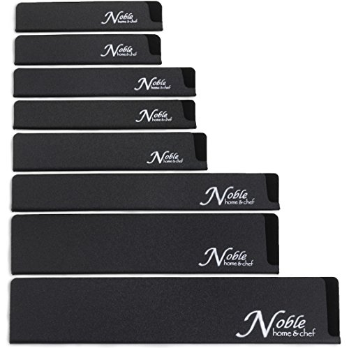 8-Piece Universal Knife Edge Guards are More Durable, Non-BPA, Gentle on Your Blades, and Long-Lasting. Noble Home & Chef Knife Covers Are Non-Toxic and Abrasion Resistant! (Knives Not Included)