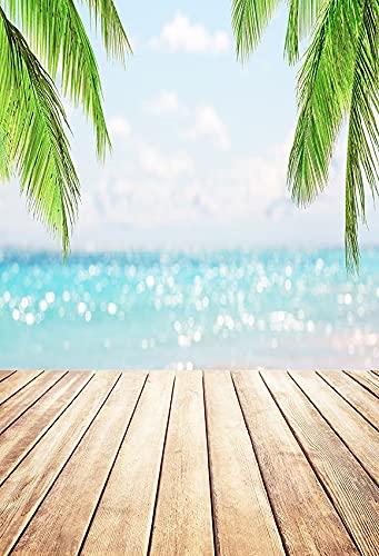 Fondo de Playa Tropical Junto al mar Verano Boda bebé cumpleaños Despedida de Soltera Fiesta Foto telones de Fondo Accesorios A8 10x10ft / 3x3m