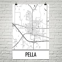 Pella Iowa Map, Pella IA Art, Pella Print, Pella Poster, Pella Wall Art, Iowa Gifts, Map of Iowa, Iowa Decor, Iowa Art, Iowa Map, Iowa Print Poster 12