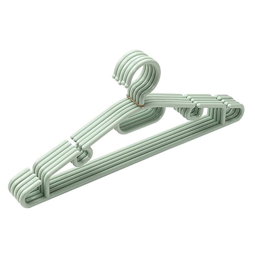 簡潔な自分の力ですべてをする洪水寝室のクローゼット素晴らしいのための20の厚いプラスチックハンガーのパック - 乾燥とワードローブのハンガー (Color : Green, Size : 40*16.5cm)
