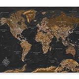 murando Papier peint intissé Carte du monde 350x256 cm Décoration Murale XXL Poster Tableaux Muraux Tapisserie Photo Trompe l'oeil Monde k-A-0206-a-a